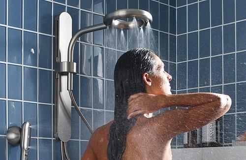 moen nebia showerhead and handshower installed