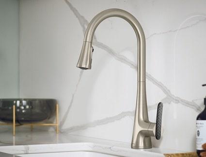 moen sinema pulldown kitchen faucet installed