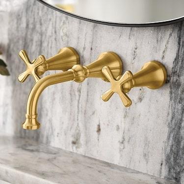 moen colinet two handle bathroom faucet installed