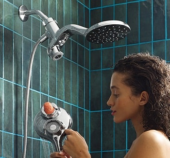 moen aromatherapy magnetix combo shower installed