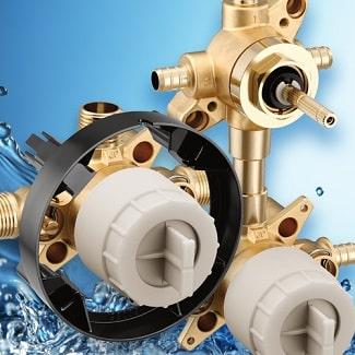 moen m-core shower valve options