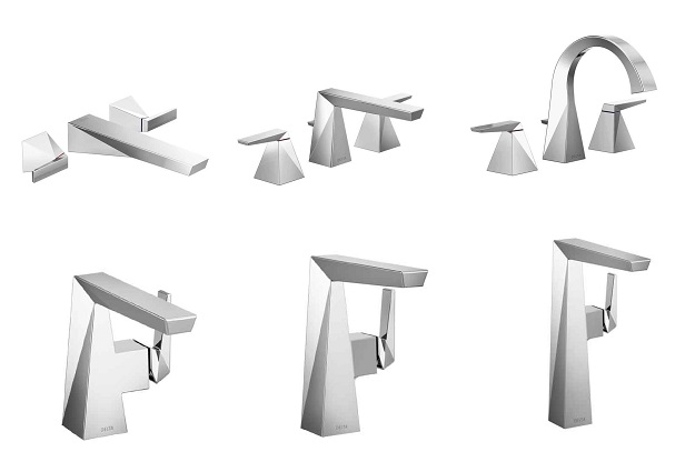 polished chrome lavatory faucet options for Delta Trillian collection